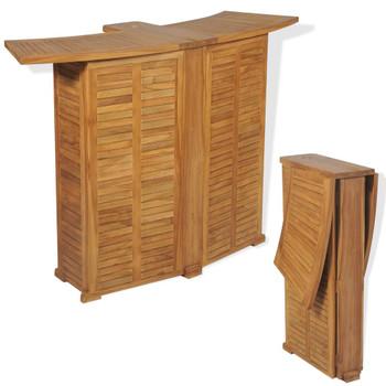 vidaXL Sklopivi barski stol od masivne tikovine 155 x 53 x 105 cm