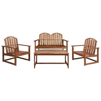 vidaXL 4-dijelni vrtni lounge set od masivnog bagremovog drva