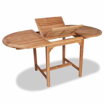 vidaXL Proširivi vrtni stol (110 - 160) x 80 x 75 cm masivna tikovina