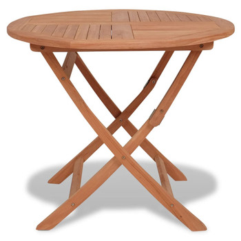 vidaXL Sklopivi vrtni stol od tikovine 85 x 76 cm
