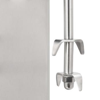 vidaXL Miješalica za frape s dvije šalice od nehrđajućeg čelika 2 l