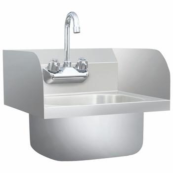 vidaXL Komercijalni umivaonik sa slavinom od nehrđajućeg čelika