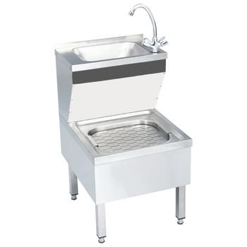 vidaXL Komercijalni samostojeći umivaonik sa slavinom nehrđajući čelik