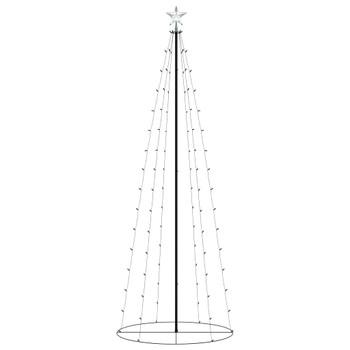 vidaXL Stožasto božićno drvce sa 100 šarenih LED žarulja 70 x 180 cm