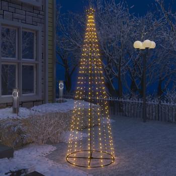 vidaXL Stožasto božićno drvce s 330 bijelih LED žarulja 100 x 300 cm