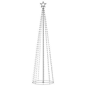 vidaXL Stožasto božićno drvce s 400 šarenih LED žarulja 100 x 360 cm