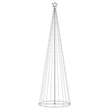 vidaXL Stožasto božićno drvce sa 752 bijele LED žarulje 160 x 500 cm