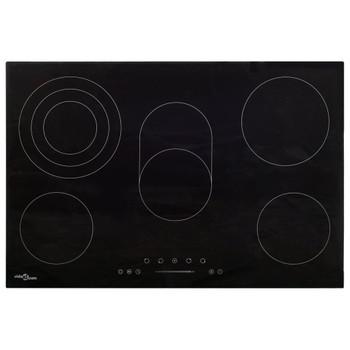 vidaXL Keramička ploča za kuhanje s 5 plamenika 90 cm 8500 W