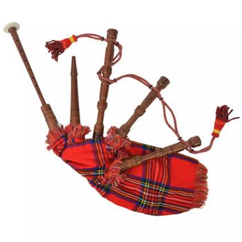 vidaXL Dječje škotske gajde Great Highland crvene Royal Stewart tartan