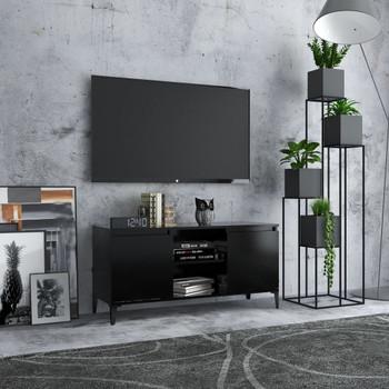 vidaXL TV ormarić s metalnim nogama crni 103,5 x 35 x 50 cm
