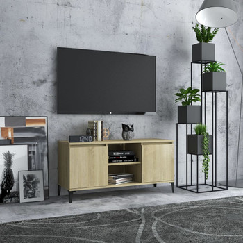 vidaXL TV ormarić s metalnim nogama 103,5x35x50 cm boja hrasta sonome