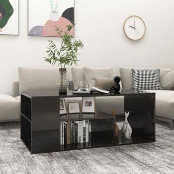 vidaXL Stolić za kavu visoki sjaj crni 100 x 50 x 40 cm od iverice