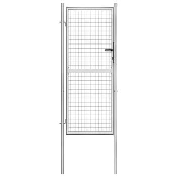 vidaXL Vrtna vrata od pocinčanog čelika 105 x 250 cm srebrna