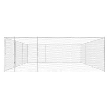 vidaXL Vanjska kućica za pse od pocinčanog čelika 570x570x185 cm