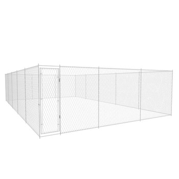vidaXL Vanjska kućica za pse od pocinčanog čelika 950x570x185 cm