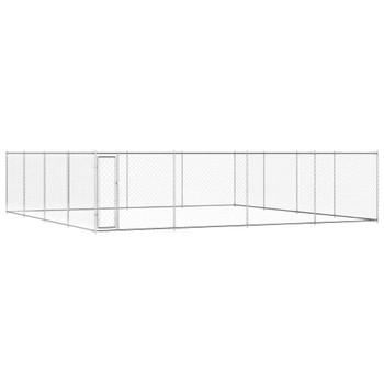 vidaXL Vanjski kavez za pse od pocinčanog čelika 760 x 760 x 195 cm