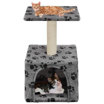 vidaXL Penjalica za mačke sa stupovima za grebanje od sisala 55 cm siva s uzorkom šapa