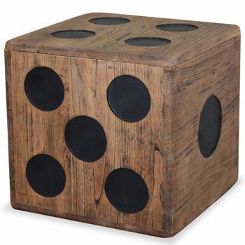 vidaXL Kutija za pohranu od drva mindi 40 x 40 x 40 cm dizajn kocke