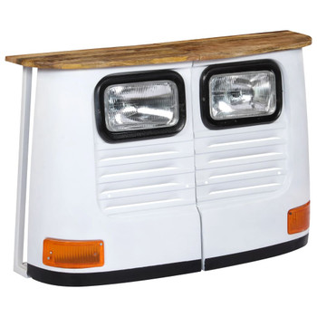 vidaXL Komoda u obliku kamiona od masivnog drva manga bijela