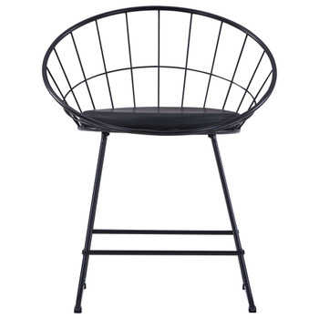 vidaXL Stolice sa sjedalima od umjetne kože 2 kom crne čelične