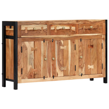 vidaXL Komoda od masivnog bagremovog drva 120 x 35 x 75 cm