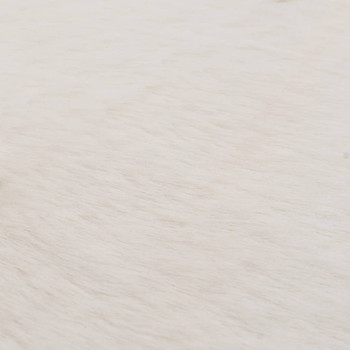 vidaXL Tepih od umjetnog zečjeg krzna 160 cm krem