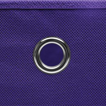 vidaXL Kutije za pohranu 4 kom ljubičaste 32 x 32 x 32 cm od tkanine