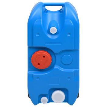 vidaXL Spremnik za vodu na kotačima za kampiranje 40 L plavi