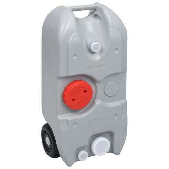 vidaXL Spremnik za vodu na kotačima za kampiranje 40 L sivi