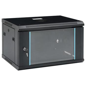 """vidaXL Zidni komunikacijski ormar 6U 19"""" IP20 600 x 450 x 375 mm"""