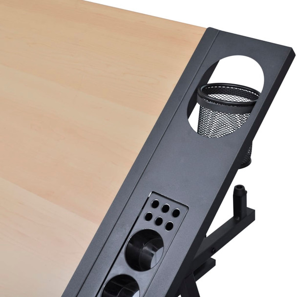 Radni stol za crtanje s nagibnom pločom dvije ladice i stolicom