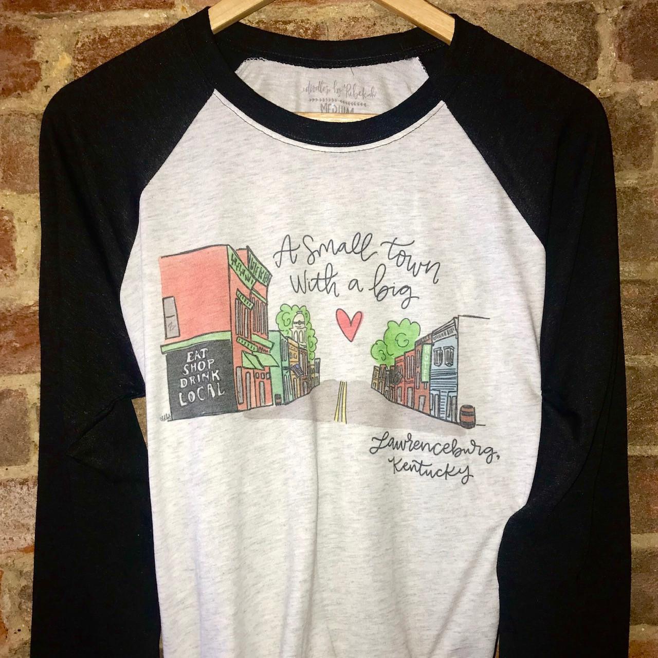 2e615e49f7df1 Lawrenceburg Kentucky Raglan Shirt