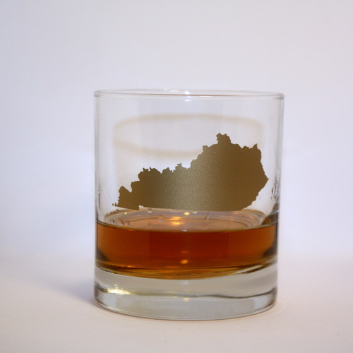 Kentucky Rocks Glass in Gold