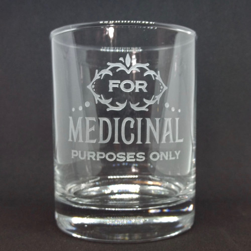 Medicinal Double Rocks Glass