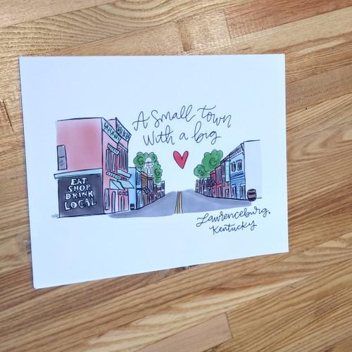 Lawrenceburg Kentucky 8 x 10 Print