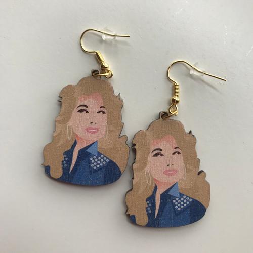 Dolly Parton Dangle Earrings