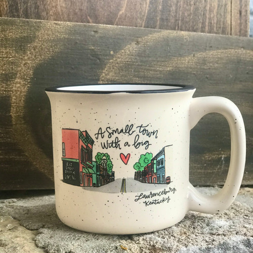 Enamel Lawrenceburg, Kentucky Coffee Mug