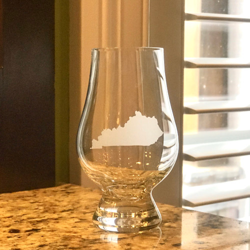 Kentucky Etched Glencairn Sniffer Tasting Glass