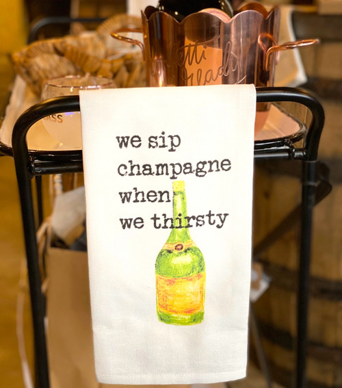 Champagne bar towel