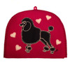 Dog Tea Cosy Poodle, hand-embroidered