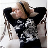 Jan Constantine Willow Pattern Cashmere Cardigan