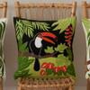 Black and orange tropical Toucan cushion, 46cm x 46cm