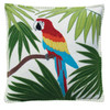 Parrot, luxury cushion, tropical, green, red, blue, yellow, orange