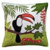 Jan Constantine Tropical Toucan Cushion (Cream)