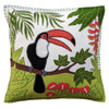Jan Constantine Tropical Toucan Cushion (Cream)