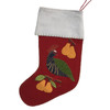 Jan Constantine Partridge Christmas Stocking (Red)