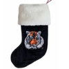 Jan Constantine Velvet Sequin Tiger Christmas Stocking (Black)