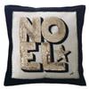 Sequin Noel Cushion (Cream/black/gold)