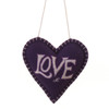 Purple and cream love lavender heart