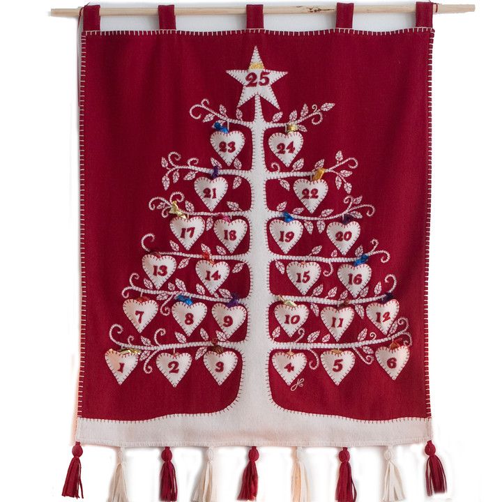 Jan Constantine Red Alpine Advent Tree